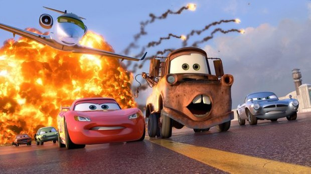 Cars 2 puts a Hitchcock twist onto the franchise. Courtesy of Pixar Animation Studios.