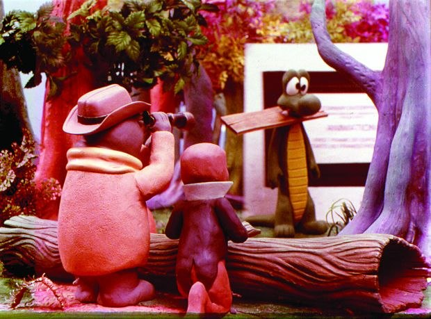 [Figure 1.20] A production still of puppets from I Go Pogo. (© Possum Productions/Walt Kelly Estate.)