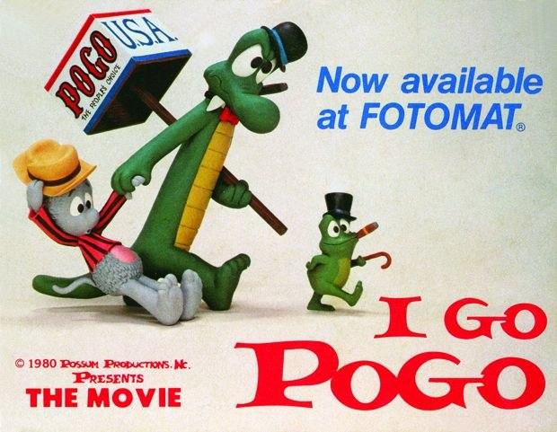 [Figure 1.21] Promotional material for the Fotomat video release of I Go Pogo. (© Possum Productions/Walt Kelly Estate.)