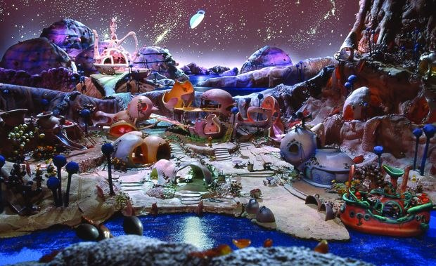 [Figure 1.25] One of the large stop-motion sets for Bino Fabule. (© CineGroupe.)
