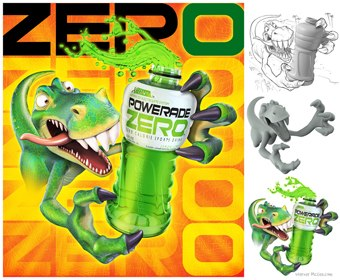 """""""Dino Drink"""" by McGee is a promotional image created in"""