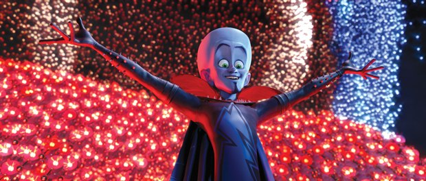 Megamind is feel good, but there are plot holes to consider. Courtesy of Paramount Pictures.