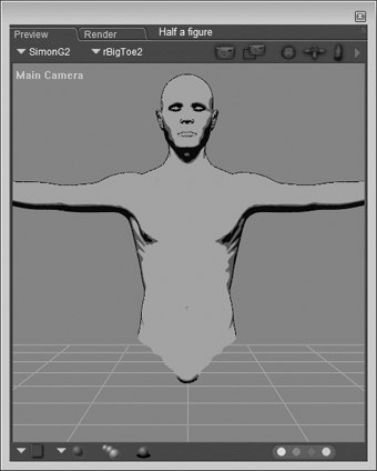 [Figure 3-15] Half a figure shaded using Cartoon style
