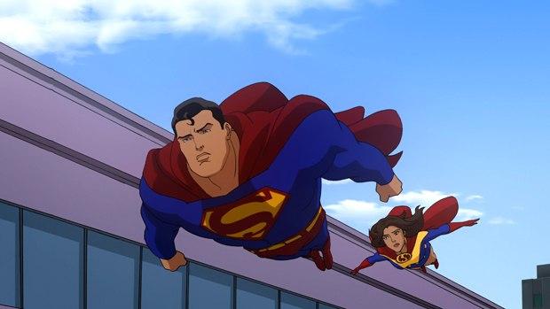 James Denton flies as Superman on All Star Superman.
