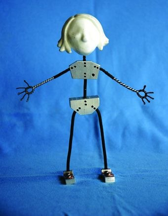 "[Figure 3.13] Plug-in armature for ""Little Bronwen"""