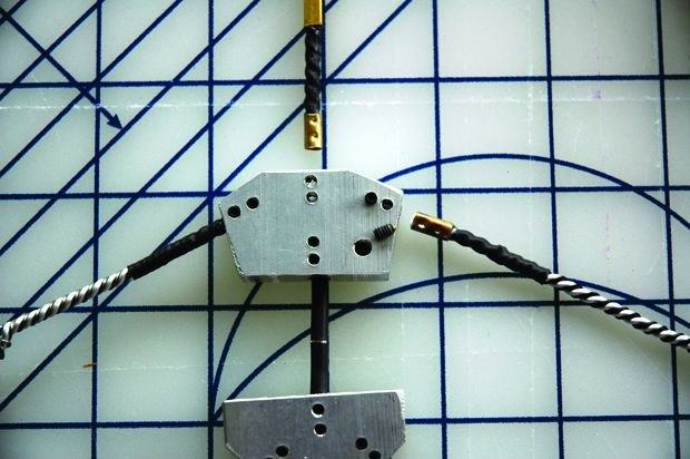 [Figure 3.15] Close-up detail of plug-in limbs and threaded holes for set screws to hold them in place. (Courtesy of Bronwen Kyffin.)