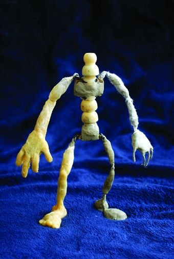 [Figure 3.33] The entire puppet armature,