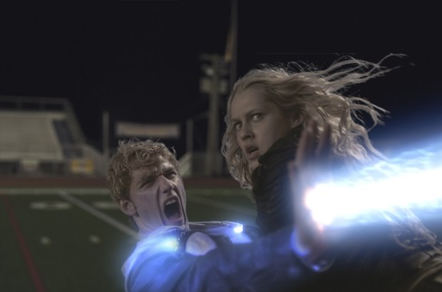 The final battle on the football field required a combination of practical and CG effects.