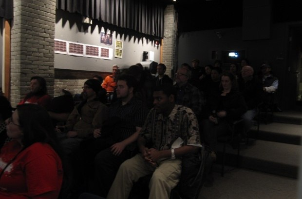 The audience at the Tippett screening. Image courtesy of Sara Diamond.