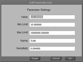 [Figure 3-28] Edit Parameter Dial dialog box