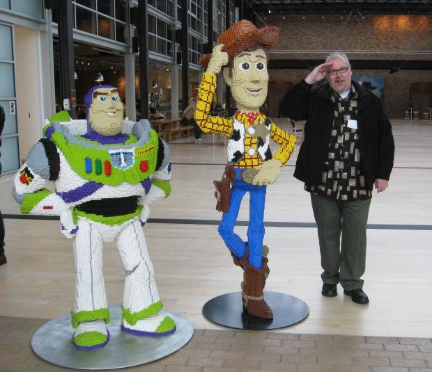 Buzz, Woody and Danny. Only my mom calls me Danny and I took this picture for her. Now she might understand what I actually do for a living - she still thinks I'm a male model. Image courtesy of Sara Diamond.