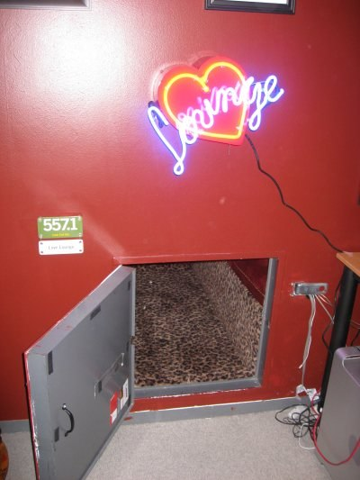 """The entrance to the infamous """"Love Lounge."""""""