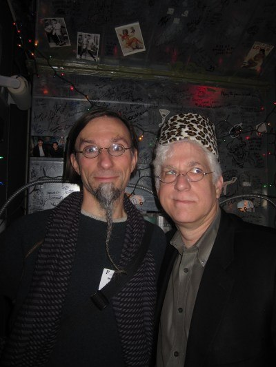 Geefwee and a fez-adorned Ron in the Love Lounge.