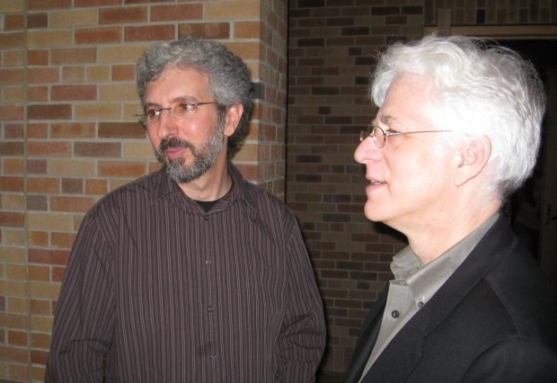 Ron talks with Roger Gould.