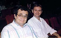The author, Mark Langer, on the left, with Jean-Michel Blottiere. Photo courtesy of Mark Langer.