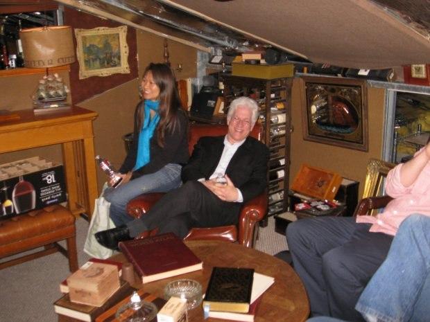 Ron Diamond enjoys a rare moment of relaxation on the tour.
