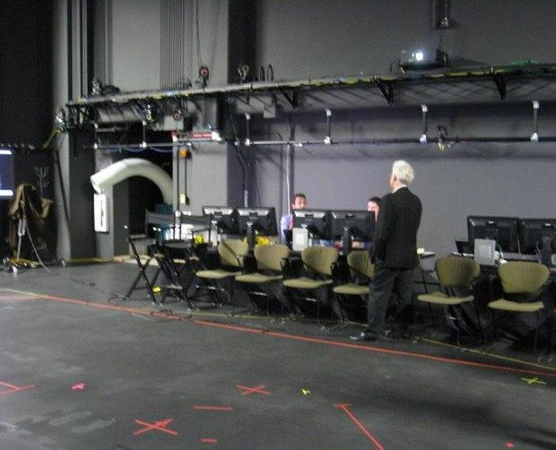 Ron surveys the control setup.