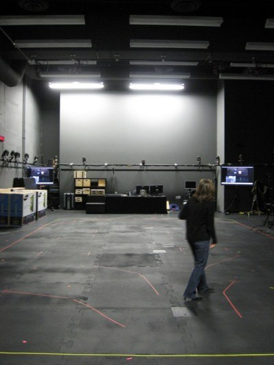 The expanse of the new studio.