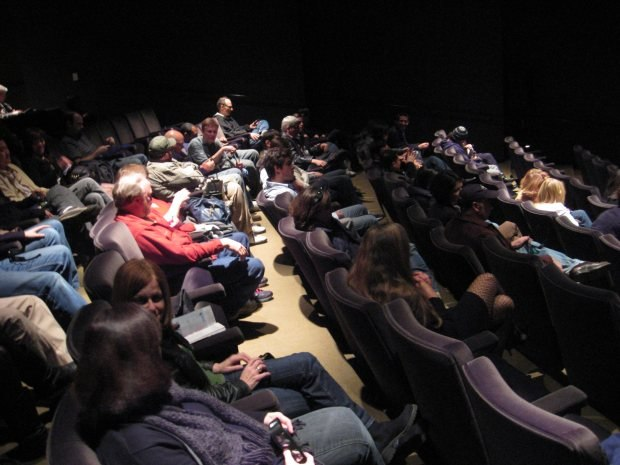 The lunchtime screening was packed.