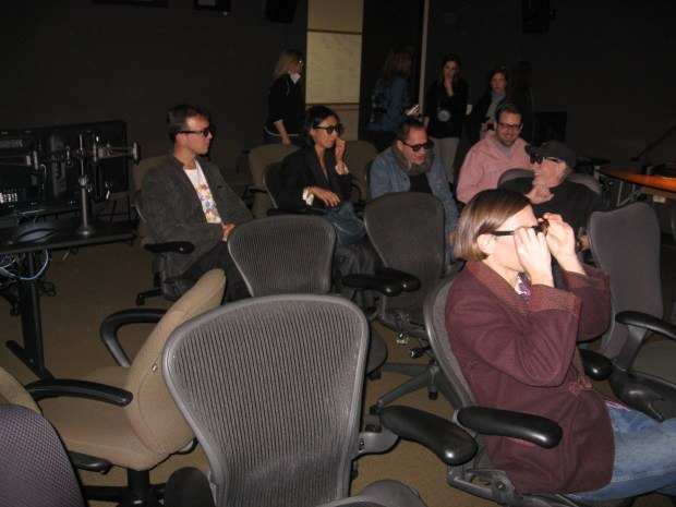 Everyone enjoyed Valerie's stereoscopic 3-D presentation.