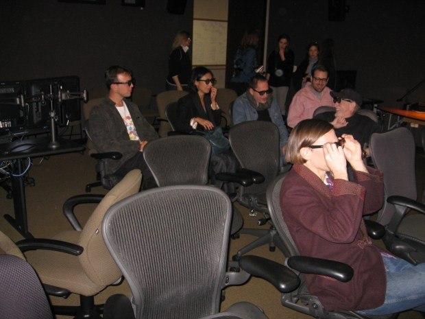 Everyone enjoyed Valerie's stereoscopic 3-D presentation.