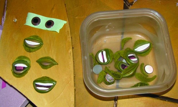 [Figure 3.46] Eye pieces and replacement mouths for Charlie.
