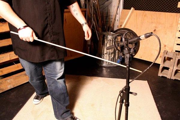 Recording SFX in the studio