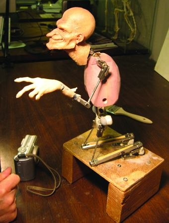 [Figure 3.84] The armature for Uncle Creepy. (Courtesy of