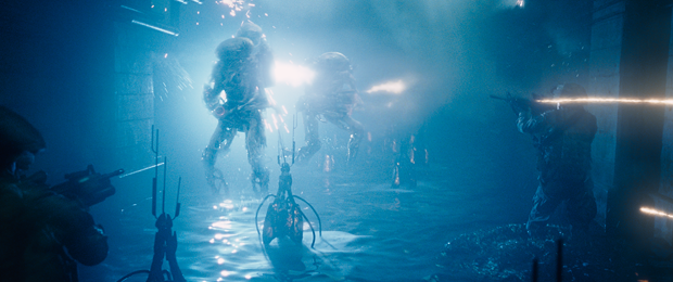 Cinesite works on sewer tunnel set in Baton Rouge, with CG aliens and on set practical effects.