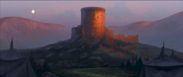 The Castle at sunset.