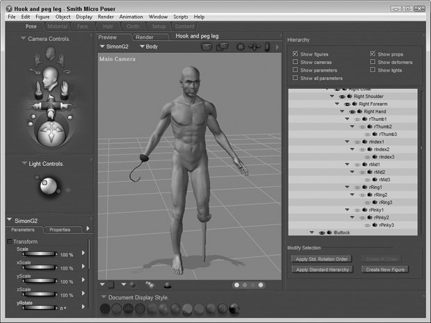 Poser 8 Revealed': Dealing with Props - Part 2   Animation