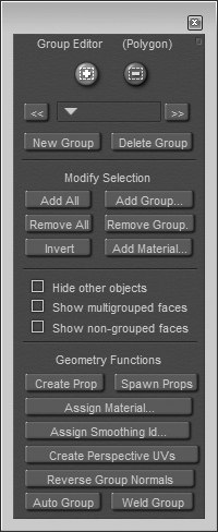 [Figure 5-14] Group Editor dialog