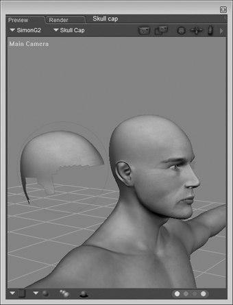 [Figure 5-17] Skullcap prop