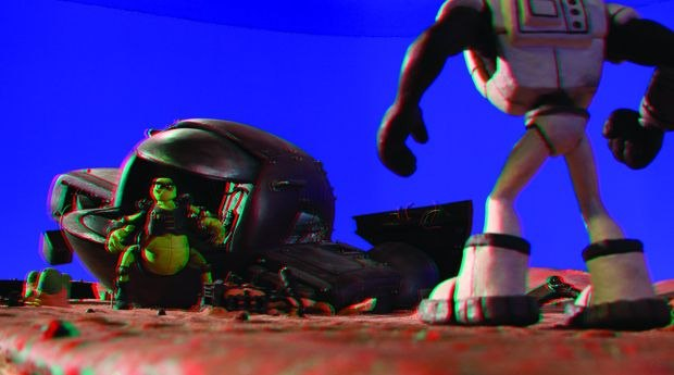 [Figure 4.32] Anaglyph 3D image, which can be viewed through a pair of red-blue 3D glasses. (Courtesy of Justin and Shel Rasch.)