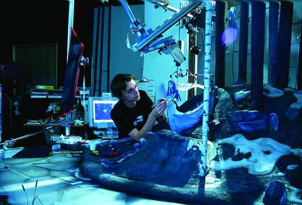 Brian Demoskoff animates on Corpse Bride. (Photo by Gary Welch/© Warner Brothers Pictures.)