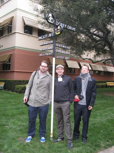 Jakob, Max and Bastien meet up at the corner of Mickey Ave. and Dopey Drive.