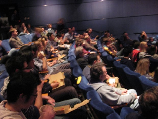 The lunchtime screening was packed as usual. Even Ed Catmull was there.