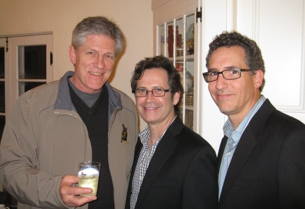 Previous Oscar nominee Bill Kroyer (Technological Threat) alongside the new Coyote-Roadrunner Warner shorts art director Alan Bodner and director Matt O'Callaghan.