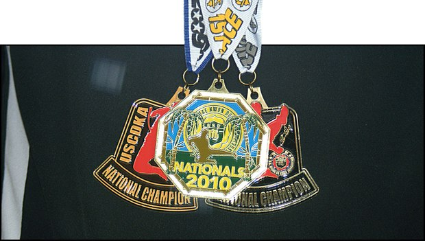 Mark Simon's Tae Kwon Do National medals.