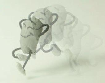 [Figure 7.4] The ThunderBean, jumping along an arc path