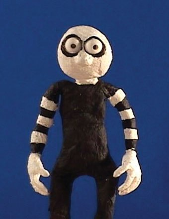 [Figure 7.6] Goth Mime puppet by Ken Priebe.