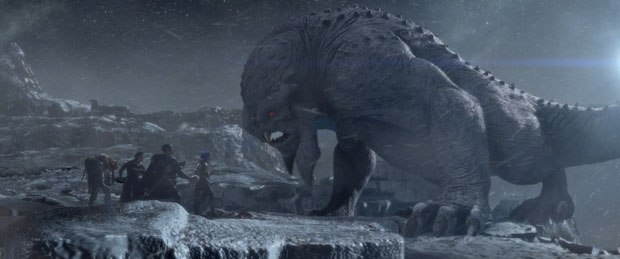 Digital Domain also created the fierce Frost Beast as an evolutionary hybrid.