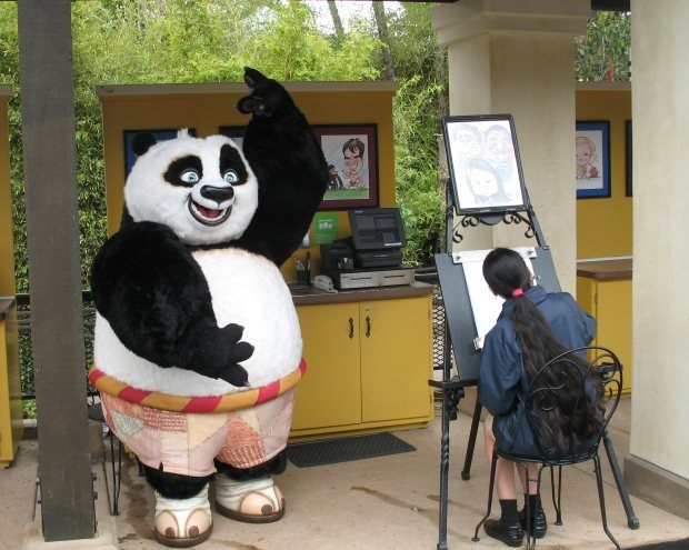 Po posing for his portrait at the San Diego Zoo (photo by Zhu Shen)