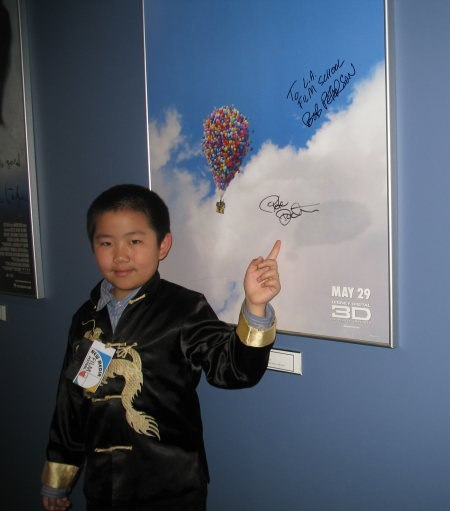 Perry Chen with autographed Up poster at LA Film School, NMFF.