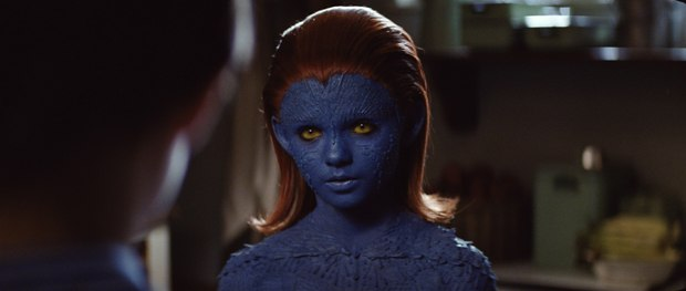 For Mystique, the scales are slightly longer and transformation showier.