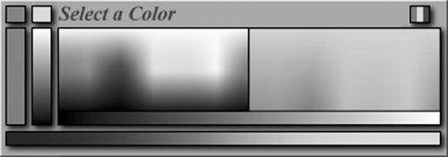 [Figure 8-8] Pop-up color palette