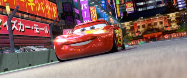 Lighting McQueen gets a new paint shader, driving system and headlights.