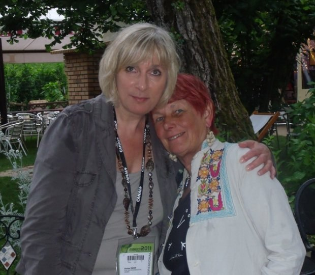 Andrea Bauer from Trickfilm Festival Stuttgart, with Nancy.