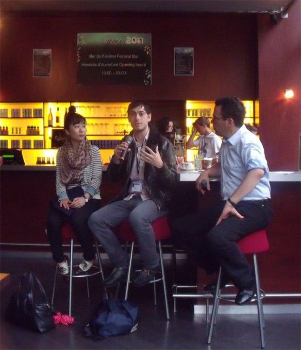 Directors' Chat - Ru Kawahata and Max Porter with Serge Bromberg.