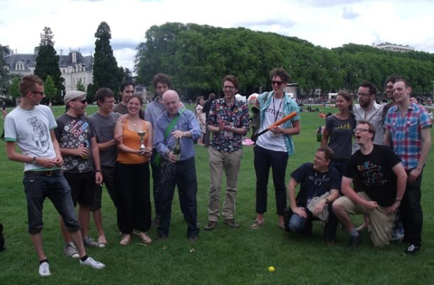 The victorious rounders team.